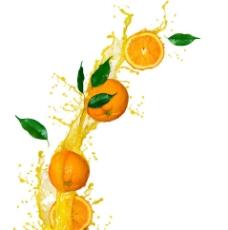 创意动感橙汁桔子图片
