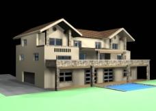 别墅 3D室外模型图片