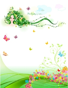 春天 绿色背景图片