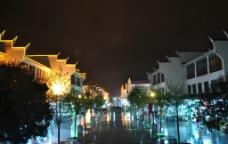 井岗山天街美丽夜景图片