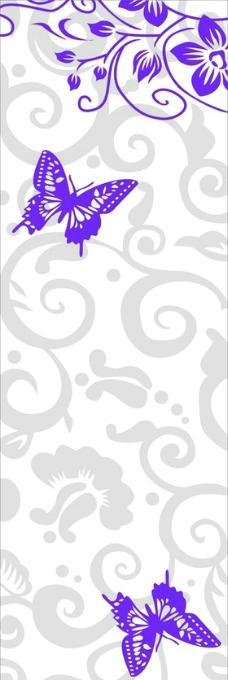 蝴蝶花纹图片