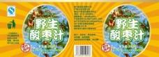 野生酸枣汁包装图片