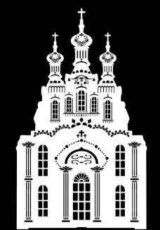 教堂 镂空图片