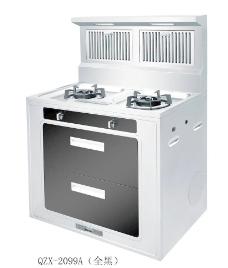 万喜厨房电器集成灶黑色图片