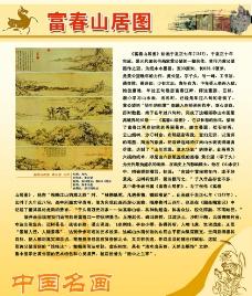 中国名画展板图片