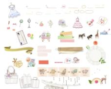 可爱的日韩手绘卡通小图标1 网页模板 psd图片