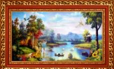 新款 风景油画图片