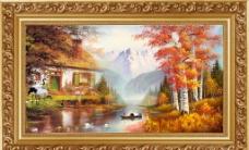 最新款 中堂画 壁画图片