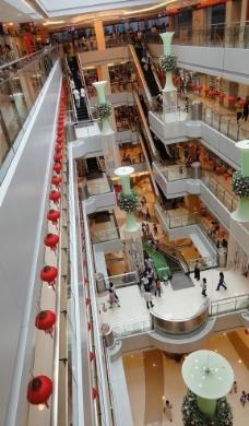 商场走廊图片