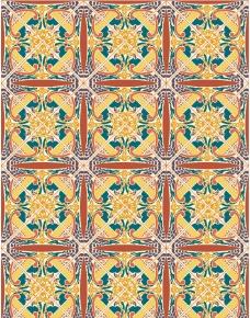 无缝古典花纹底纹图片