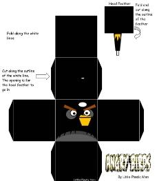 愤怒的小鸟 黑鸟 包装箱设计图片