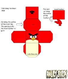 愤怒的小鸟红鸟 包装箱设计图片