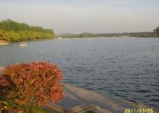 湖上荡舟图片