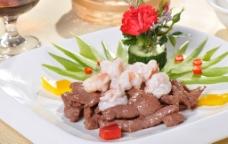 鲜虾球牛柳图片