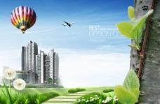 房产PSD分层素材背景