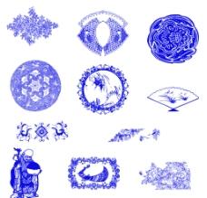 高清青花瓷图案图片