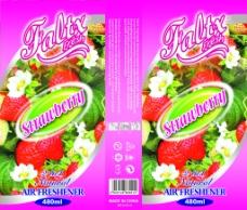 草莓香型空气清新剂包装图片