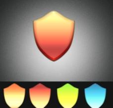 盾牌水晶 Logo 设计图片