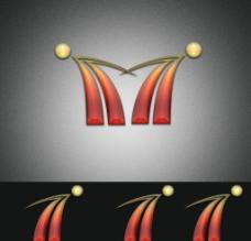 双人 牵手 水晶 Logo 设计图片