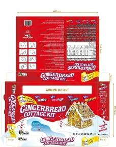 姜饼屋 包装 彩盒 设计图片