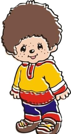 卡通图片,小孩 米饭 卡通人物 儿童幼儿 矢量人物-图