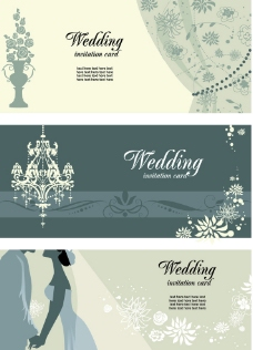 婚礼 卡片 请柬 新郎 新娘图片