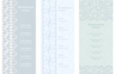 欧式古典花纹背景菜单图片