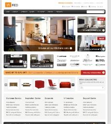 韩国精美家居网站模板图片