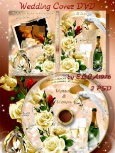 婚礼录像dvd封面模板设计图片