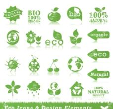 eco主题图标矢量素材图片