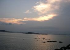 渔港黄昏图片