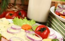 西红柿 洋葱 生菜 蔬菜图片