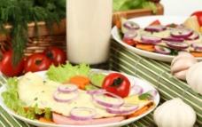 早餐 西红柿 洋葱 生菜 大蒜 胡萝卜图片