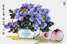 牡丹 寿桃图片