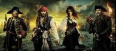 电影海报 加勒比海盗4图片