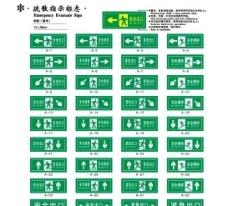 公共标识疏散指示标志图片