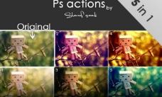 5in1 五种ps修图动作图片