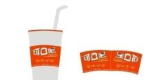杯子包装设计图图片