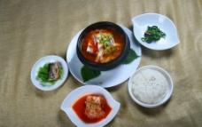 韩式套餐大酱汤图片