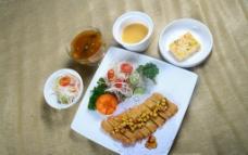 日式炸猪排套餐图片