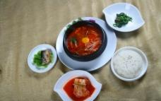 韩式套餐海鲜豆腐汤图片