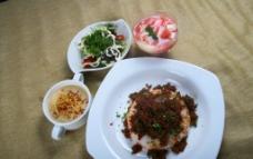 西式套餐印度香辣羊肉图片