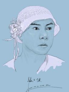 张卫健素描肖像图片