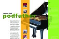 音乐类画册模板图片