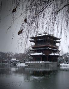 雪天的逍遥津图片