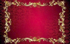 欧式花纹金色花边框图片