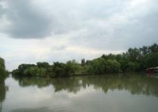 瘦西湖湖水一隅图片