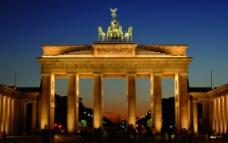德国新天鹅堡夜景图片