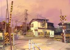 铁路闸口图片