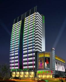 大厦夜景图片